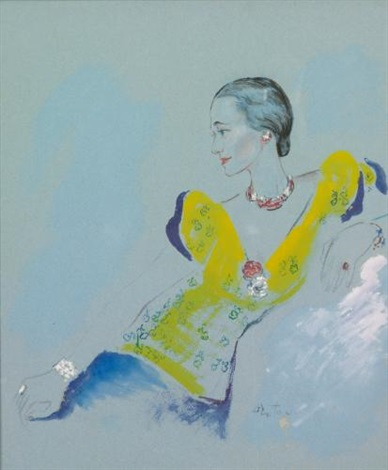 portrait of mrs wallis simpson by cecil beaton