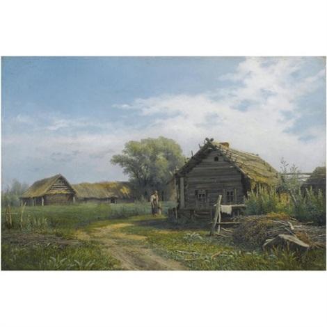 farmhouse by mikhail petrovich baron klodt von jurgensburg