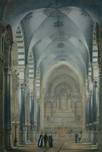 intérieur d'église by jean buis