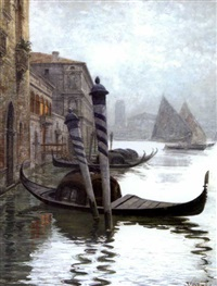 canal à venise by emilio vasarri