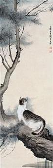 猫戏图 by liu kuiling