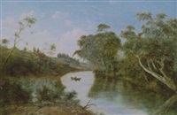 view of the yarra, knockanda, alphington by henry c. gritten