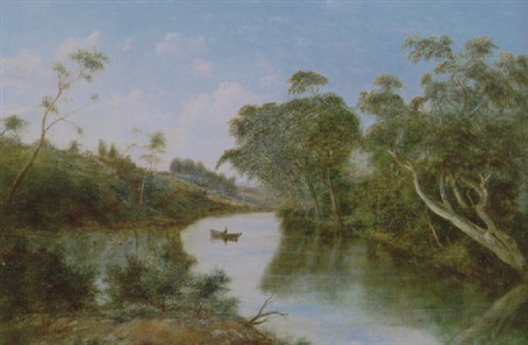 view of the yarra knockanda alphington by henry c gritten