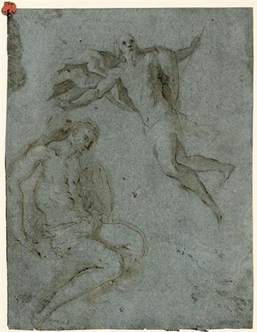 schwebende christusfigur sitzender christus 2 works by jacopo palma il giovane