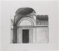design for serracapriola's study and two designs for private rooms (3 works) by giacomo quarenghi