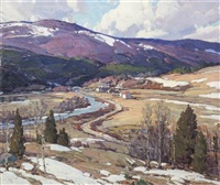 march winds, vermont by aldro thompson hibbard
