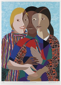 three women of america by elizabeth catlett
