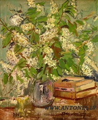 white lilacs by teodor uldrikis