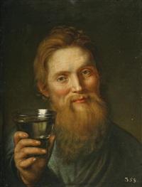 porträt eines trinkenden mannes by nicolaas van eyck