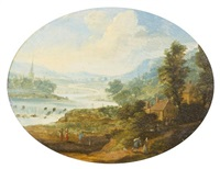 a pastoral landscape by jan brueghel the elder