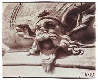 mascaron du pont des belles fontaines, château de la cour de france, juvisy-sur-orge by eugène atget