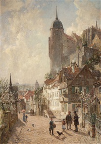 spring in meissen by wilhelm georg ritter