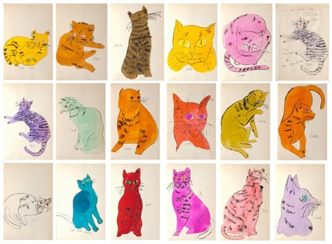 25 cats named sam and one blue pussy 18 works by andy warhol