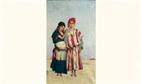 deux jeunes filles by louis joseph anthonissen
