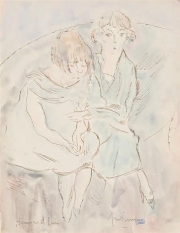 hermine et lucie by jules pascin