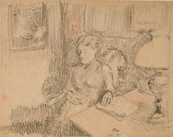 femme assise by georges lemmen