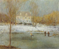 skaters in east hampton, new york by william john whittemore