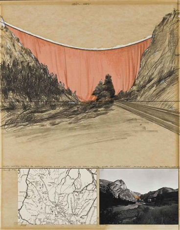 valley curtain (project for colorado) by christo and jeanne-claude