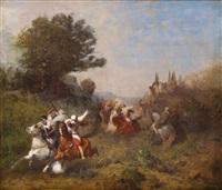 fantasia devant le sheikh by eugène fromentin