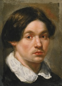 portrait of a young man, probably a self-portrait by flemish school (17)