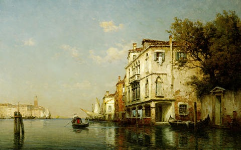 on a venetian backwater by antoine bouvard