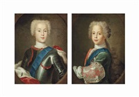 portrait of prince charles edward stuart (1720-1788)... (+ portrait of prince henry benedict stuart, later cardinal york (1725-1807), half-length; pair) by antonio david