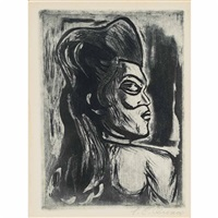 woman in profile by josé clemente orozco
