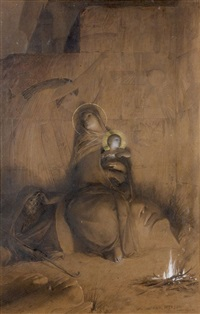 la fuite en egypte by luc olivier merson
