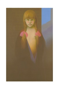 portrait of a girl by graham ovenden