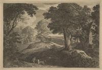 le bouvier près d'une mare (after fouquières) by jean morin