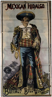mexican hidalgo, buffalo bill's wild west by posters: buffalo bill