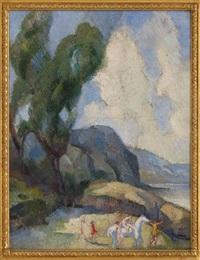 paisaje con figuras by angel zárraga