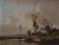 la roulotte marais environs d'amiens by alexandre jacob