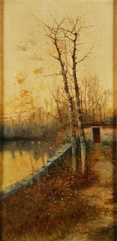 pareja de paisajes by ramiro lafuente