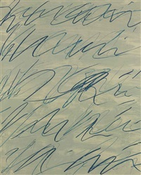 roman notes v (from roman notes) by cy twombly
