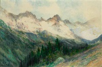 the colorado rockies by charles partridge adams