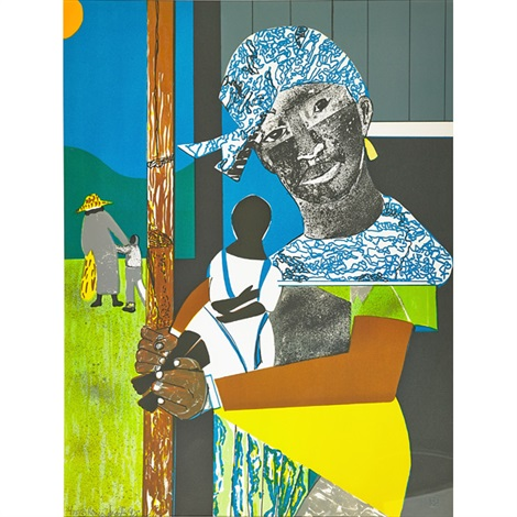 come sunday mother and child by romare bearden