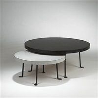 nesting tables for the helstein house, chicago (pair) by bertrand goldberg