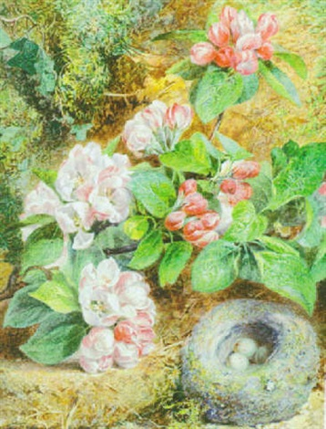 dog roses on a mossy bank by mary margetts