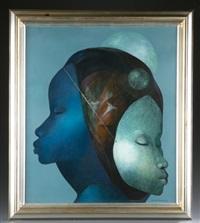 2 female heads by bernard séjourné