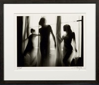 trois nus au rideau by lucien clergue