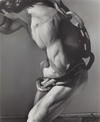 man with chain, los angeles by herb ritts