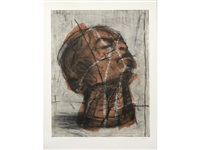 head (orange) by william kentridge