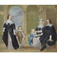 portrait of a family by philip fruytiers