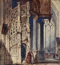 church interior by joseph nash