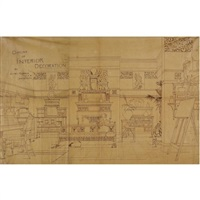 outline of interior decoration by edward william godwin