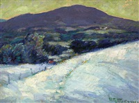 white mountain, snow by henry ryan macginnis