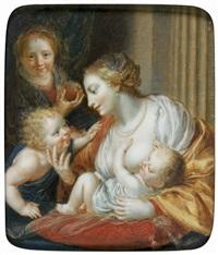 vierge à l'enfant avec sainte elisabeth et saint jean-baptiste by jean-baptiste couvelet