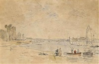 scène portuaire by eugène boudin