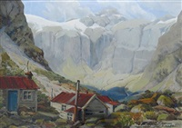 among the mountains - near homer tunnel by peggy spicer